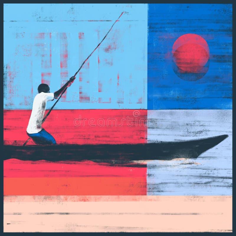 Żeglować na Dhow łodzi ilustracji