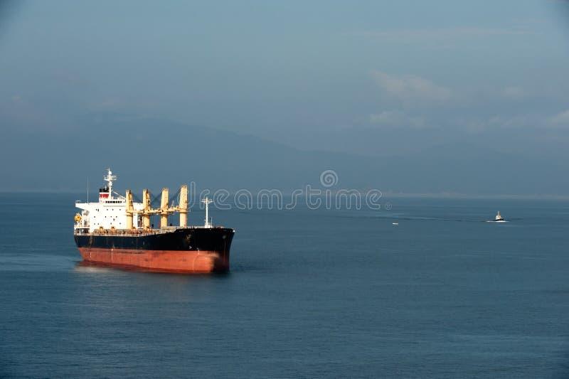 żeglowania morza tankowiec fotografia stock