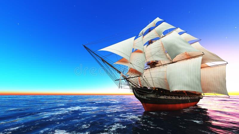 Żeglowanie łódź ilustracji