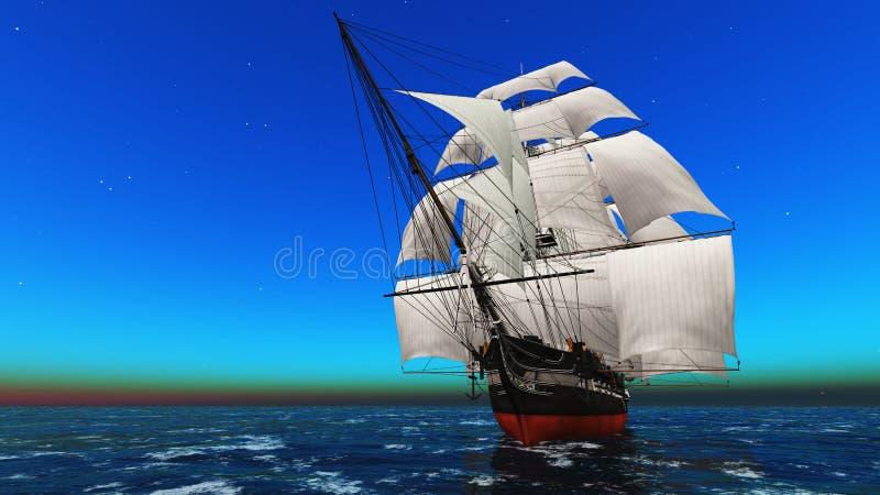 Żeglowanie łódź ilustracja wektor