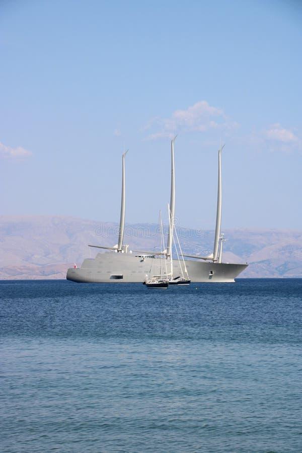Żeglowanie jacht A zdjęcie royalty free