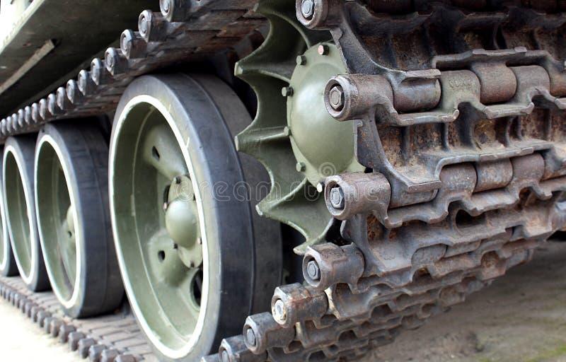 Żelazna gąsienicowa część zbiornik dla ruchu w trudnych miejscach obrazy stock