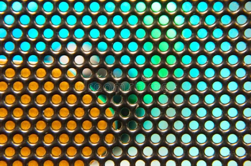 Żelazna siatka z backlight może używać jako tło zdjęcia stock
