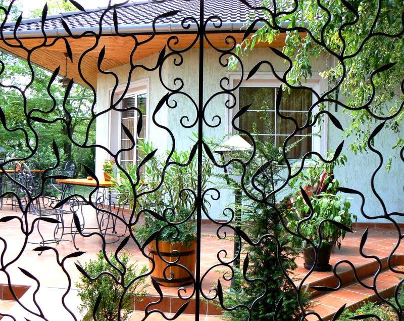 żelazna tarasowa pracy zdjęcie royalty free