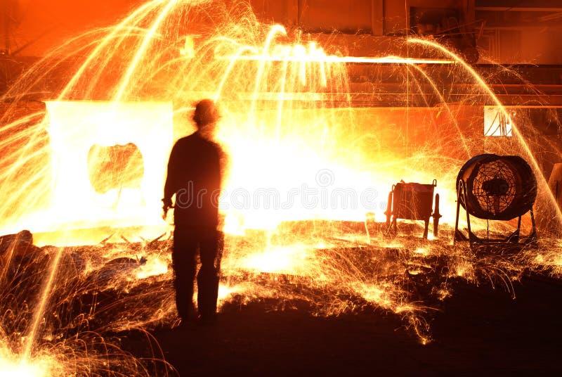 Żelazne Steelmaking pracy zdjęcie royalty free