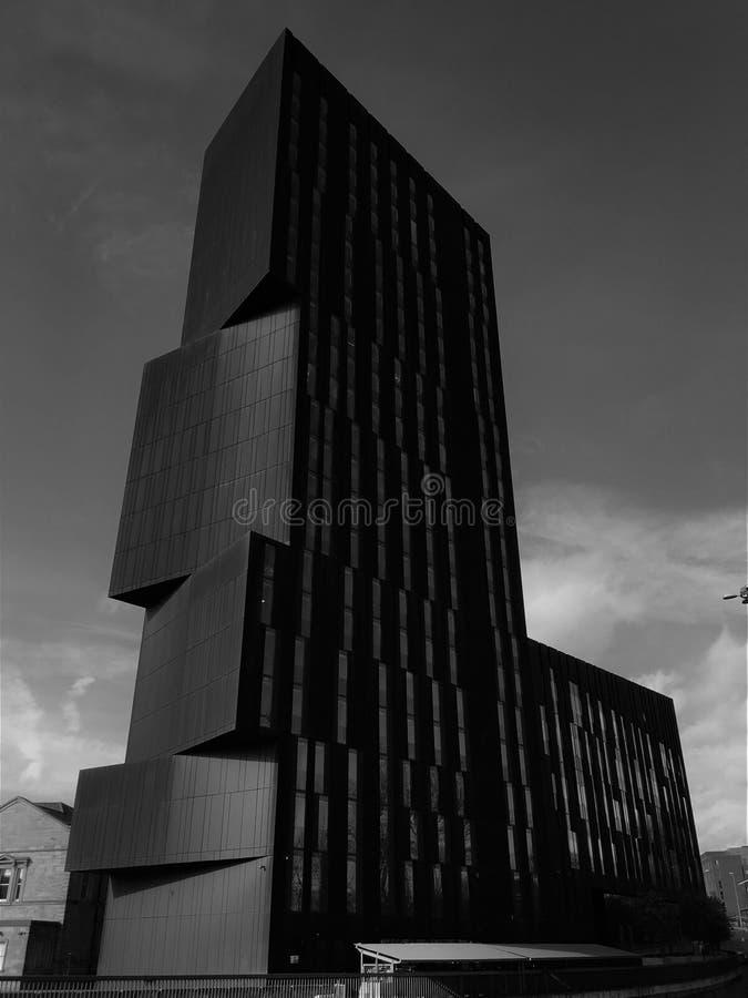 Żelazny basztowy budynek, Leeds, UK obraz stock