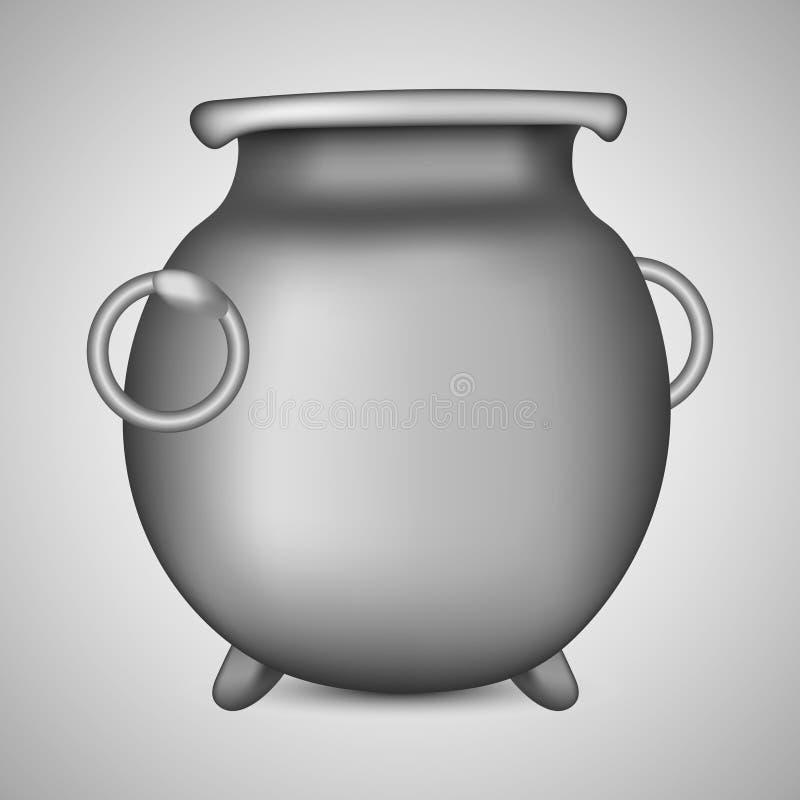 Żelazny garnek dla Patrick dnia Bojler dla czarownica napojów miłosnych Czajnik dla Kulinarnego jedzenia Wektorowa ilustracja dla royalty ilustracja
