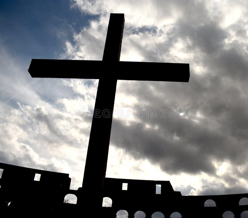 Żelazny krzyż w kolosseumu zdjęcia royalty free