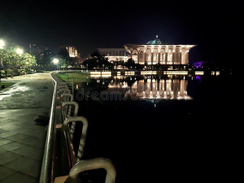 Żelazny meczet Putrajaya obraz stock