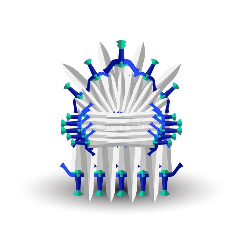 Żelazny tron dla gra komputerowa projekta ilustracja wektor