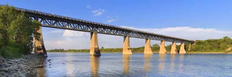 żelazo bridżowy pociąg zdjęcie royalty free