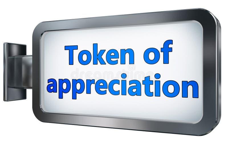 Żeton docenienie na billboardzie ilustracji