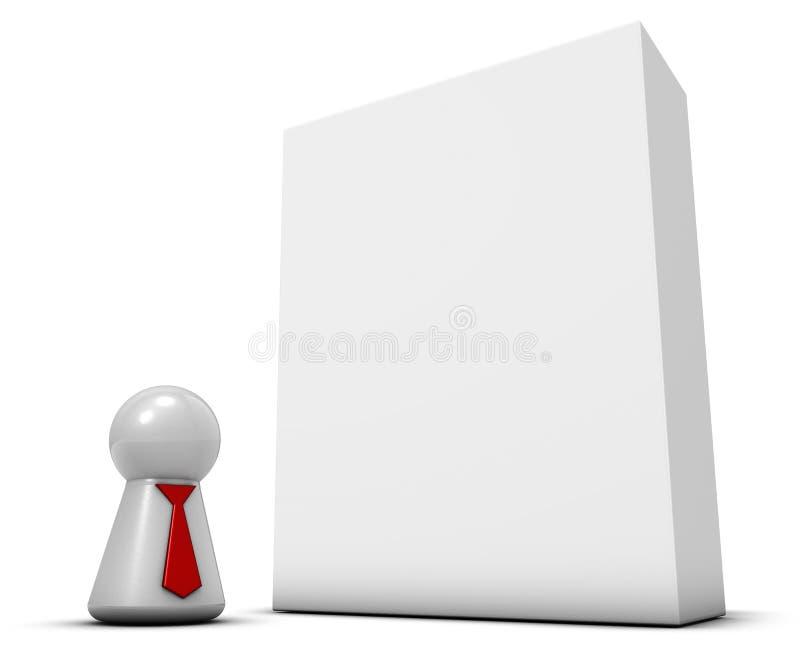Żeton z krawatem i pudełkiem royalty ilustracja