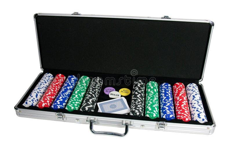 Żetony karty grać w pokera fotografia stock