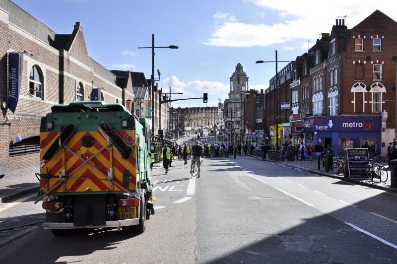 żniwa clapham złącza London zamieszki zdjęcia royalty free