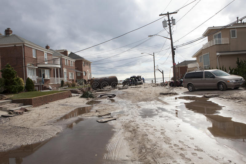 Żniwo huragan Sandy obraz royalty free