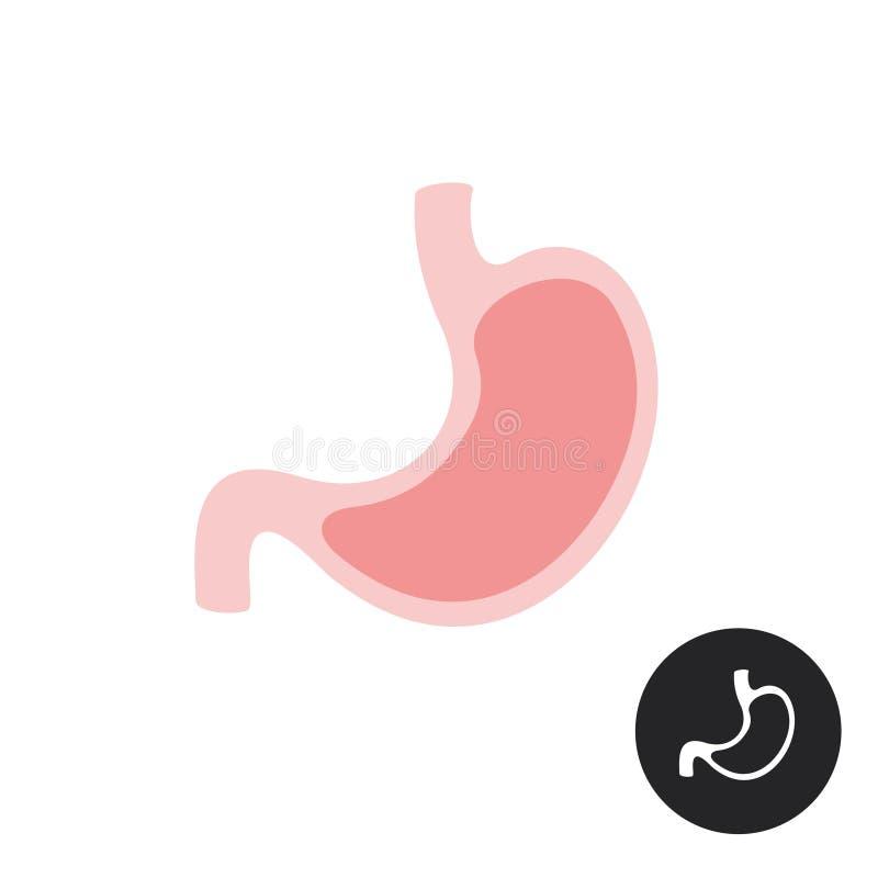 Żołądek prosta wektorowa płaska ilustracja ilustracji