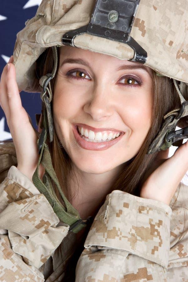 żołnierz żeńskich zdjęcie royalty free