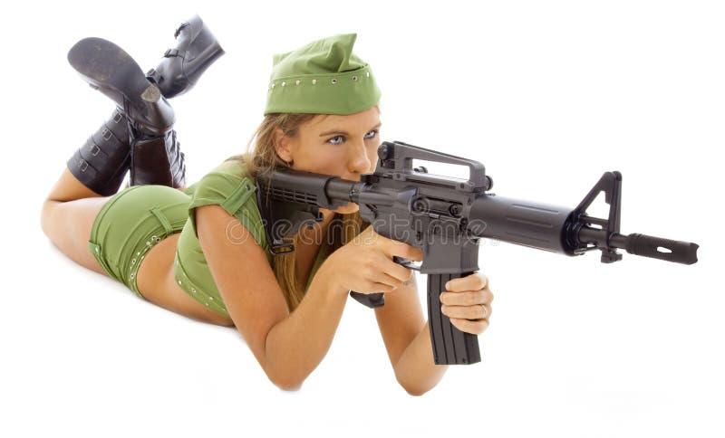 Download żołnierz obraz stock. Obraz złożonej z krótkopęd, broń - 13336245