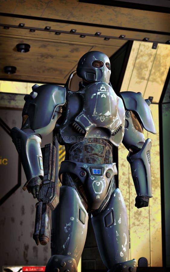 Żołnierz futurystyczne specjalne operacje royalty ilustracja