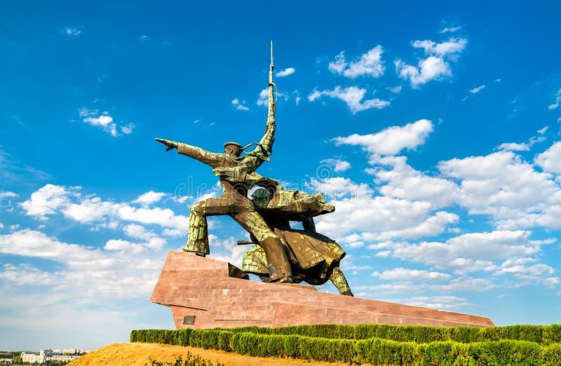 Żołnierz i żeglarz, sowiecki pomnik obrońcy Sevastopol w Drugi wojnie światowej crimea zdjęcia stock