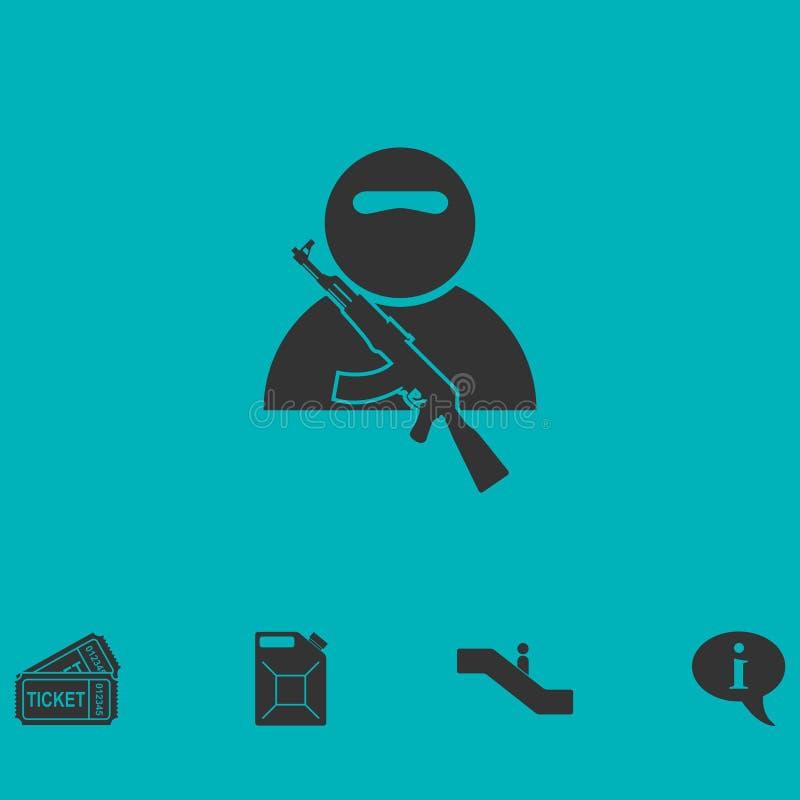 Żołnierz ikony mieszkanie ilustracja wektor