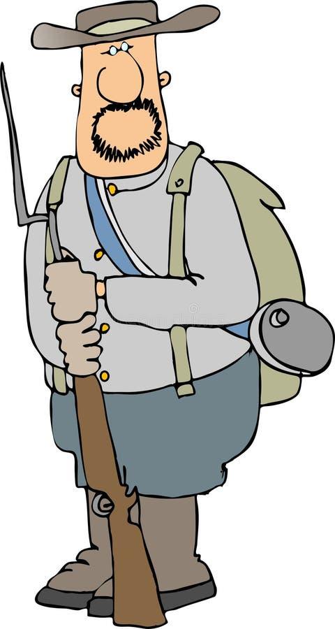 żołnierz konfederatów royalty ilustracja