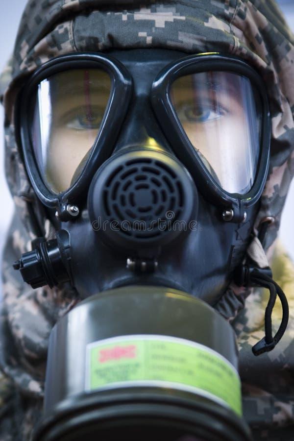 żołnierz maski gazowej fotografia royalty free
