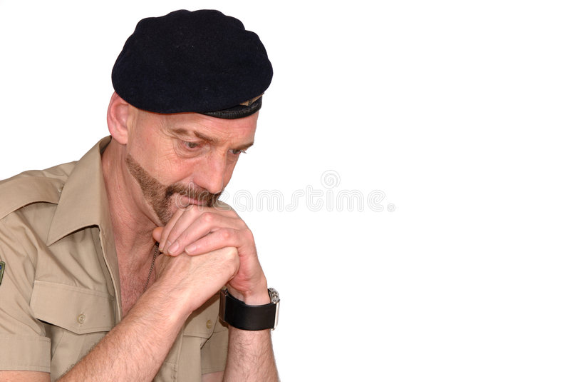 żołnierz modlitwa zdjęcia stock
