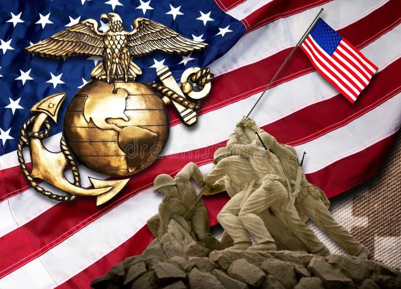 Żołnierz piechoty morskiej byli Najlepszy zdjęcia stock