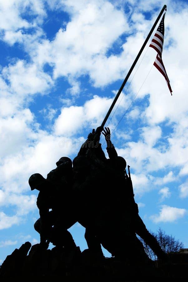 Żołnierz piechoty morskiej Pomnik Corp (Iwo Pomnik Jima) zdjęcie royalty free