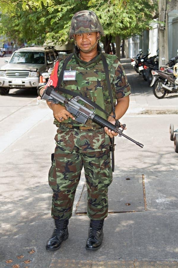 żołnierz tajlandzki zdjęcie stock