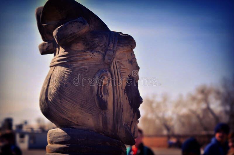 żołnierz terakota odseparowana zdjęcie royalty free