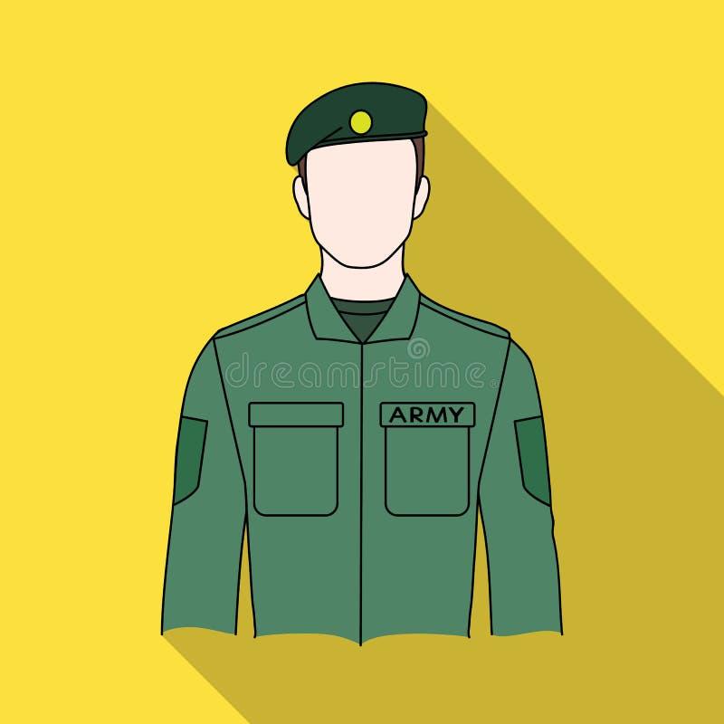 żołnierz Zawody przerzedżą ikonę w mieszkanie stylu symbolu zapasu ilustraci wektorowej sieci royalty ilustracja