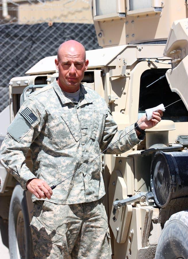 żołnierza działanie zdjęcia royalty free