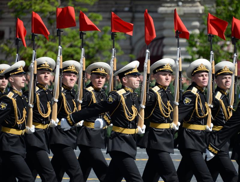 Żołnierze strażnik honor oddzielny Commandant ` s transfiguraci pułk przy militarną paradą zdjęcie royalty free