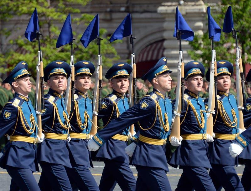 Żołnierze strażnik honor oddzielny Commandant ` s transfiguraci pułk przy militarną paradą na cześć zwycięzcę fotografia royalty free