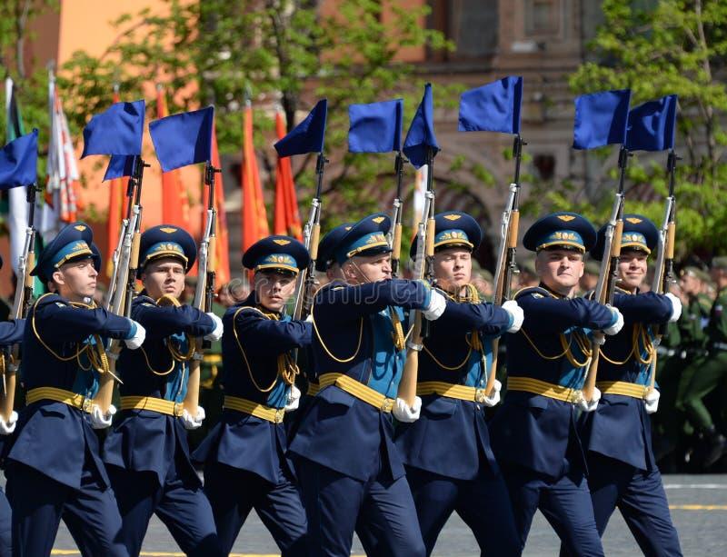 Żołnierze strażnik honor oddzielny Commandant ` s transfiguraci pułk przy militarną paradą na cześć zwycięzcę obrazy royalty free