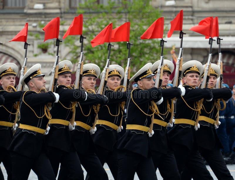 Żołnierze strażnik honor oddzielny commandant ` s transfiguraci pułk przy próbą zwycięstwo Paradują obrazy stock