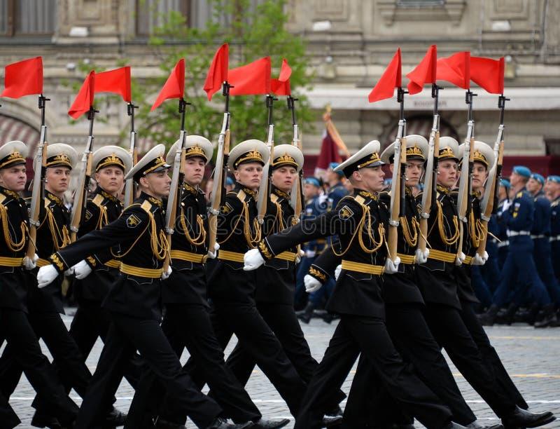 Żołnierze strażnik honor oddzielny commandant ` s transfiguraci pułk przy próbą zwycięstwo Paradują obraz royalty free