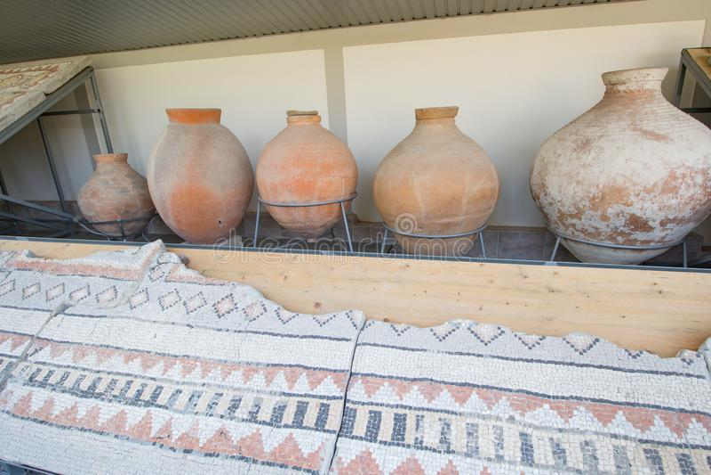 Żugi i mozaiki z uziemienia Starożytność fotografia royalty free