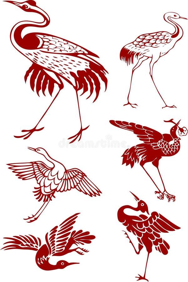 żuraw royalty ilustracja
