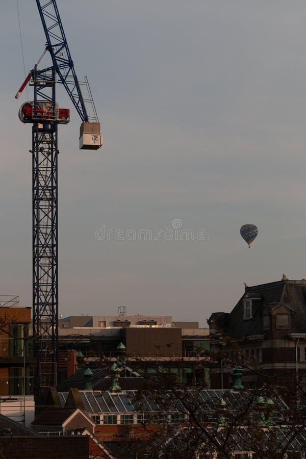 Żuraw w centre Bristol zdjęcia stock