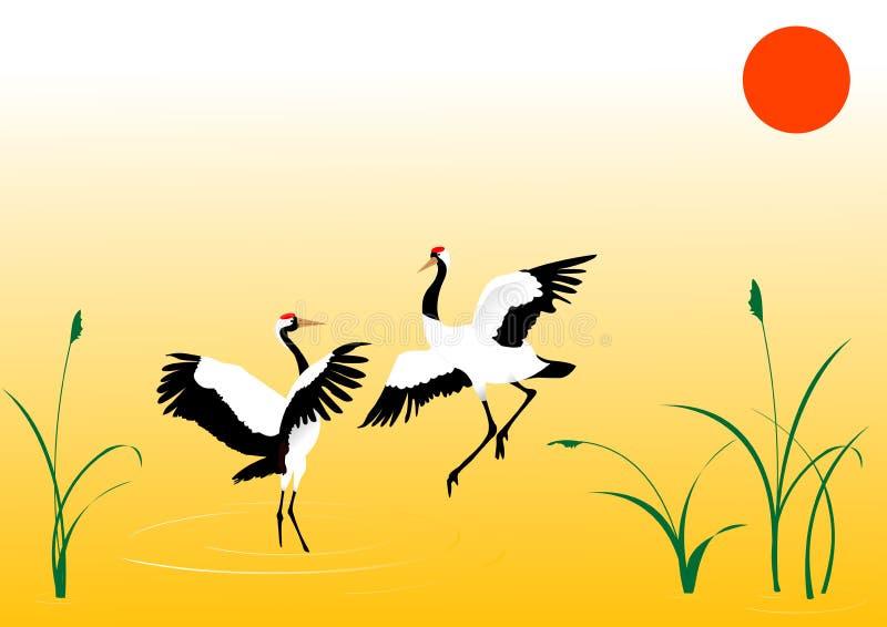 żurawi tańczyć ilustracji