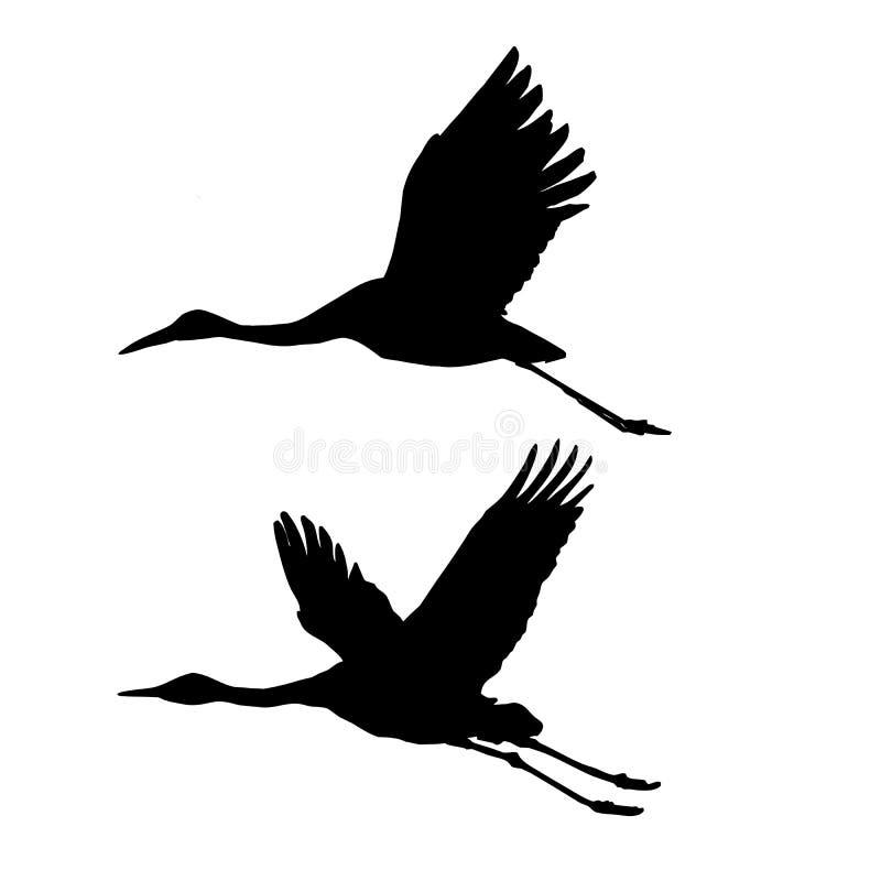 żurawie target3071_1_ sylwetkę ilustracja wektor