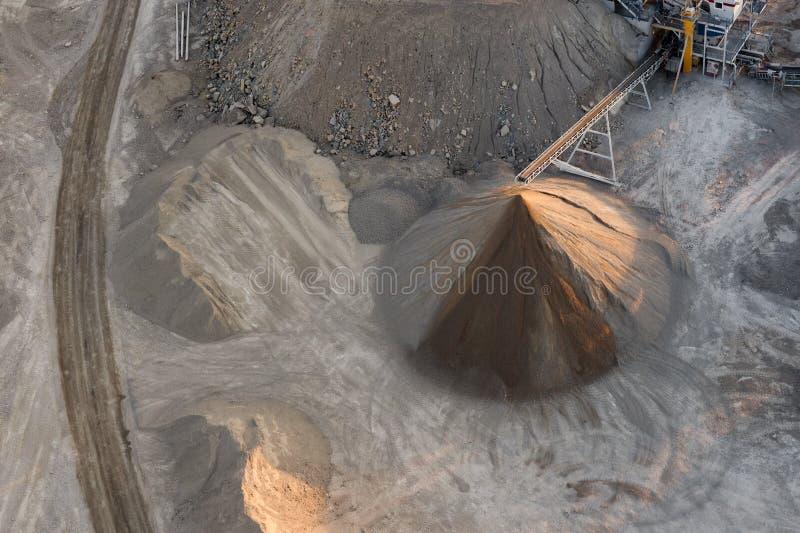 Żwir kopalnia zdjęcie stock