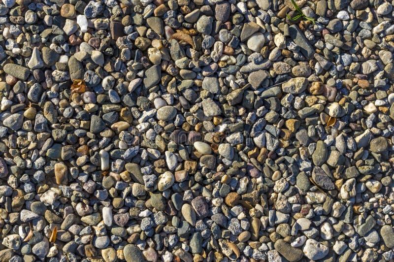 Żwir, otoczaki jako sposób przymocowywa, naturalna podłoga, drenaż, bu fotografia royalty free