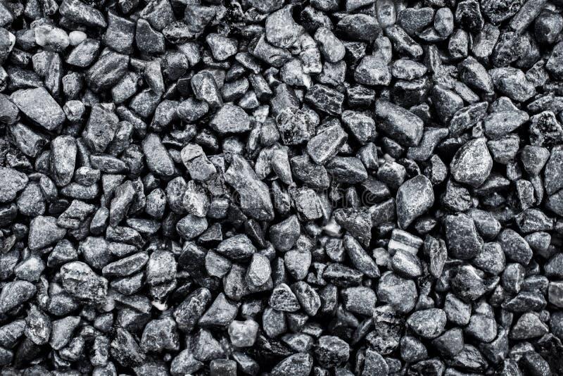 Żwiru kamienia skały tekstury tło Odgórny widok, Grayscale kolor zdjęcia royalty free
