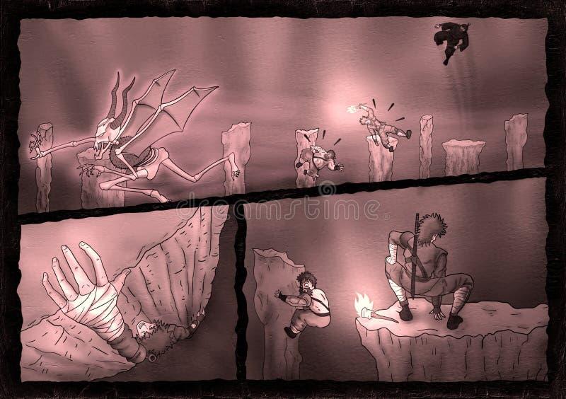 Żyć przygodę w tajemnicy cavern ilustracji