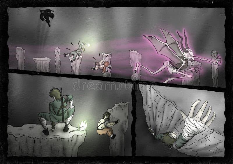 Żyć przygodę w tajemnicy cavern ilustracja wektor